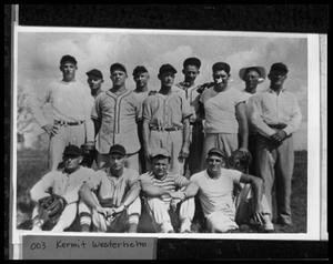 Primary view of object titled '[Danevang Hug-the-Coast Baseball League Members]'.