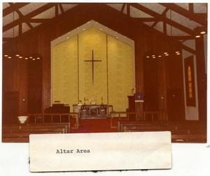 Primary view of object titled 'Danevang Lutheran Church Altar'.