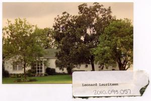 Primary view of object titled 'Leonard Lauritsen Home'.
