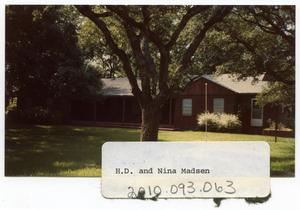 Primary view of object titled 'H. D. and Nina Madsen Home'.