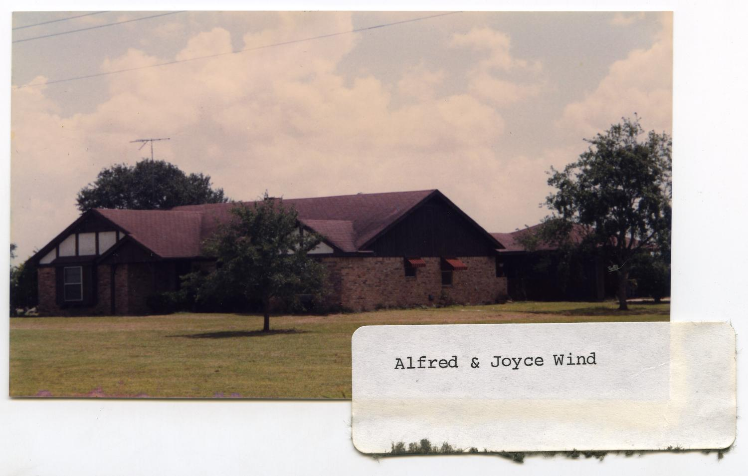 Alfred & Joyce Wind Home                                                                                                      [Sequence #]: 1 of 2