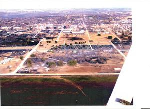 Primary view of object titled '[Aerial view of Cross Plains]'.