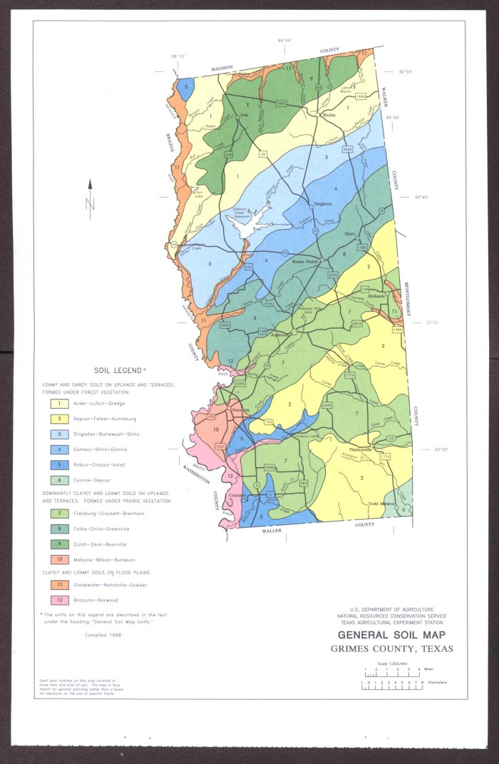 General Soil Map Grimes County Texas Sequence 1 The