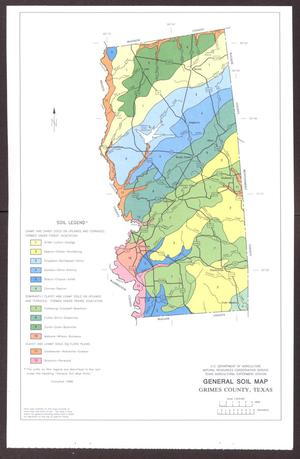 Primary view of object titled 'General Soil Map, Grimes County, Texas'.