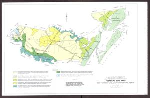 Primary view of object titled 'General Soil Map, San Patricio and Aransas Counties, Texas'.