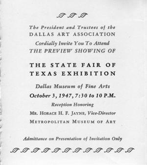State fair of texas exhibition invitation the portal to texas thumbnail image of item number 2 in state fair of texas exhibition invitation stopboris Images