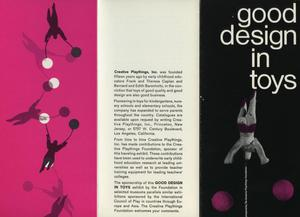 Good Design in Toys [Brochure]