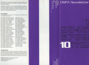 Primary view of object titled 'Dallas Museum of Art Newsletter, October 1967'.