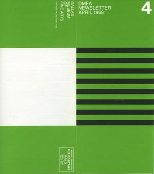 Primary view of object titled 'Dallas Museum of Fine Arts Newsletter, April 1968'.