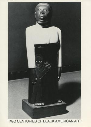 Primary view of object titled 'Two Centuries of Black American Art [Invitation]'.