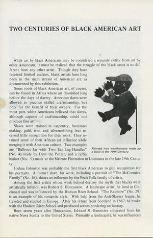 Two Centuries of Black American Art [Essay]