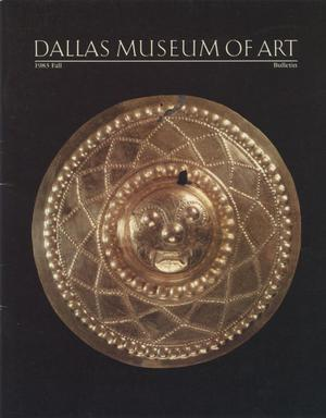 Primary view of object titled 'Dallas Museum of Art Bulletin, 1983 Fall'.