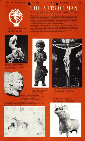 The Arts of Man: A Selection from Ancient Times [Flyer]