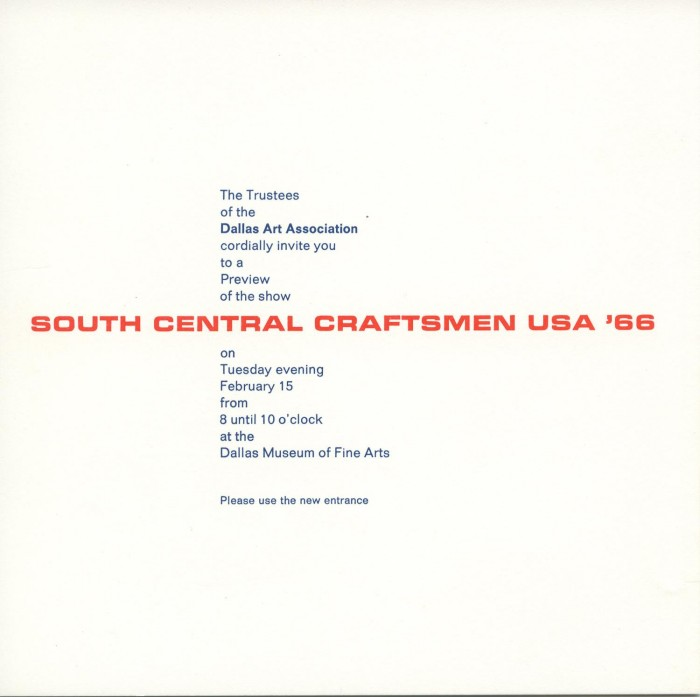 Invitation to a preview of the exhibition south central craftsmen invitation to a preview of the exhibition south central craftsmen usa 66 stopboris Image collections