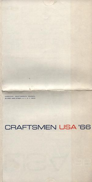 Primary view of object titled 'Craftsmen USA '66 [Entry form]'.