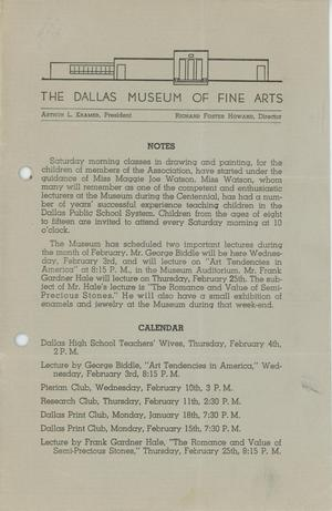 Primary view of object titled 'Bulletin of the Dallas Museum of Fine Arts, 1937'.