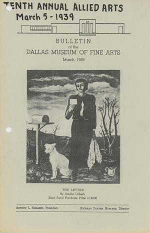 Primary view of object titled 'Bulletin of the Dallas Museum of Fine Arts, March 1939'.