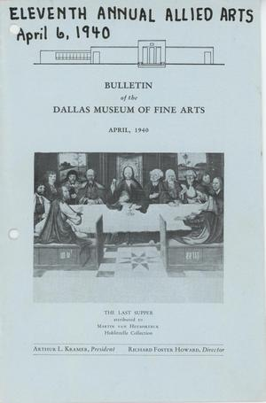 Primary view of object titled 'Bulletin of the Dallas Museum of  Fine Arts, April 1940'.