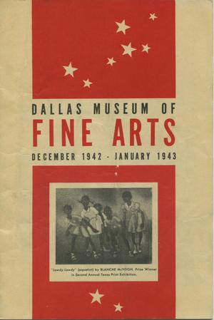Primary view of object titled 'Dallas Museum of Fine Arts, December 1942-January 1943'.