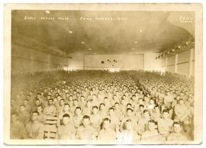 Primary view of object titled '[Camp Wolters Soldiers at Mass]'.