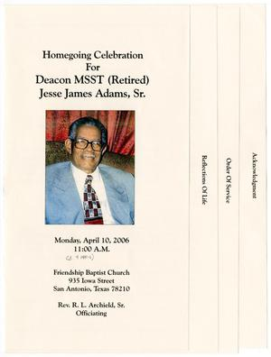 Primary view of object titled '[Funeral Program for Jesse James Adams, Sr., April 10, 2006]'.