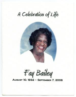 Primary view of object titled '[Funeral Program for Fay Bailey, September 15, 2008]'.