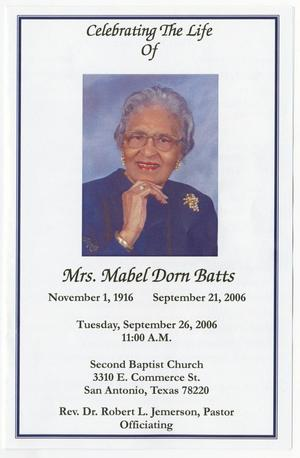 Primary view of object titled '[Funeral Program for Helen L. Batts, March 16, 2009]'.