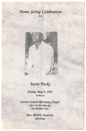 Primary view of object titled '[Funeral Program for Jessie Becks, May 9, 1997]'.
