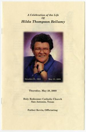 Primary view of object titled '[Funeral Program for Hilda Thompson Bellamy, May 28, 2009]'.
