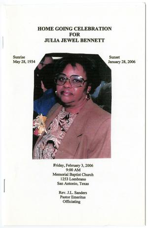 Primary view of object titled '[Funeral Program for Julia Jewel Bennett, February 3, 2006]'.