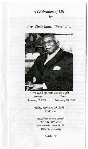[Funeral Program for Clyde James Bias, February 29, 2008]