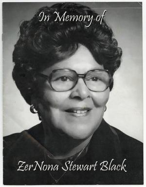 Primary view of object titled '[Funeral Program for ZerNona Stewart Black, January 29, 2005]'.