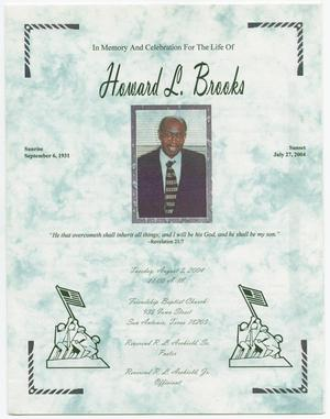 Primary view of object titled '[Funeral Program for Howard L. Brooks, August 3, 2004]'.