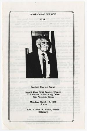 [Funeral Program for Clarice Brown, March 12, 1990]