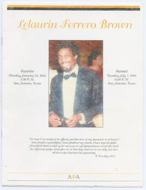 Primary view of object titled '[Funeral Program for Lelaurin Ferrero Brown, July 11, 1998]'.