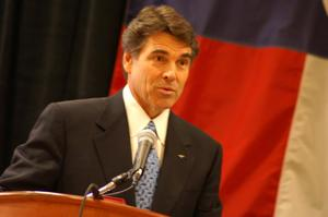 Primary view of object titled '[Rick Perry talks]'.