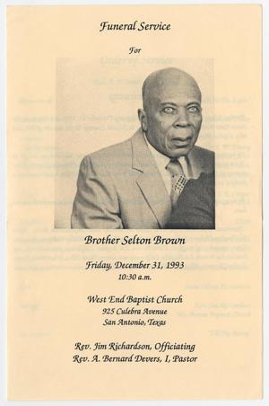 Primary view of object titled '[Funeral Program for Selton Brown, December 31, 1993]'.