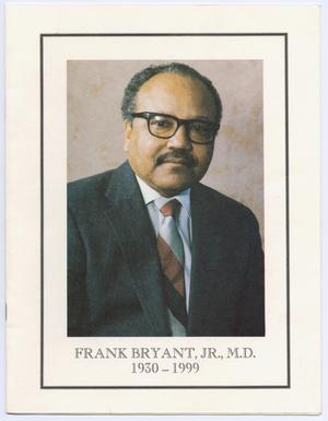 Primary view of object titled '[Funeral Program for Frank Bryant, Jr., December 30, 1999]'.