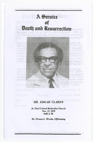 [Funeral Program for Edgar Clardy, November 17, 1979]