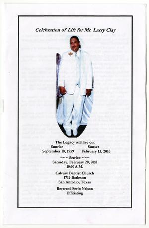 [Funeral Program for Angela Michelle Watkins Cullum, March 15, 1985]