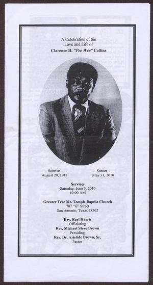 [Funeral Program for Clarence H. Collins, June 5, 2010]