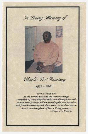 [Funeral Program for Charles Levi Courtney]