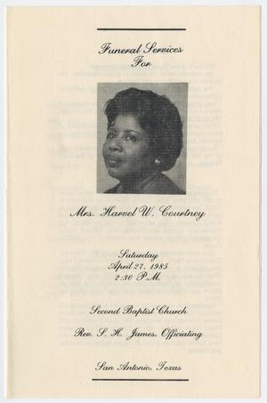 Primary view of object titled '[Funeral Program for Harvel W. Courtney, April 27, 1985]'.