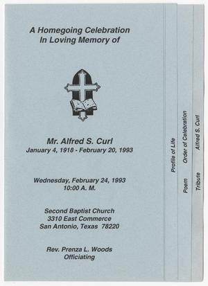 [Funeral Program for Alfred S. Curl, February 24, 1993]