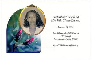 Primary view of object titled '[Funeral Program for Mrs. Villa Glasco Dansby, January 24, 2004]'.
