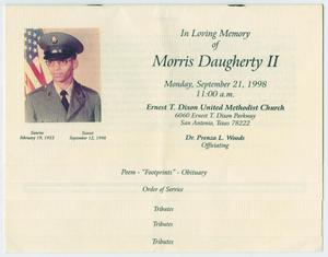 Primary view of object titled '[Funeral Program for Morris Daugherty, II, September 21, 1998]'.