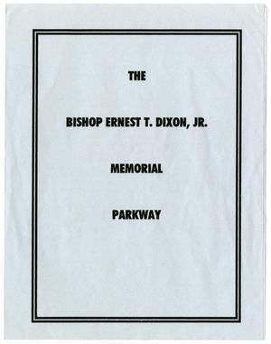 Primary view of object titled '[Memorial Program for Bishop Ernest Thomas Dixon, Jr., October 4, 1996]'.