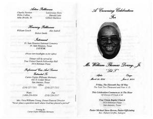 Thumbnail image of item number 4 in: '[Funeral Program for William Thomas Dorsey
