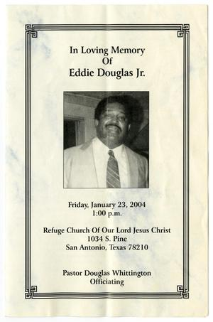 [Funeral Program for Eddie Douglas, Jr., January 23, 2004]