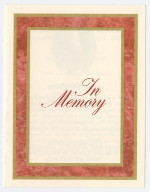 Primary view of object titled '[Funeral Program for William Alexander Gaskin, July 6, 2007]'.